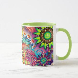 Colorful Abstract Flowers Coffee Mug