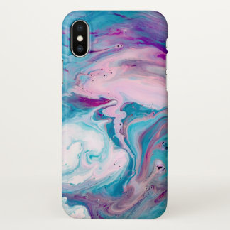 Colorful Abstract Fluid Swirls Background iPhone X Case