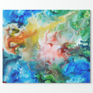 Colorful abstract galaxy painting