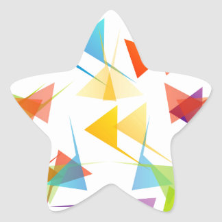 Colorful abstract geometric background star sticker