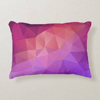 Colorful Abstract Geometric Pattern Decorative Pillow