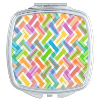 Colorful Abstract Geometric Pattern Vanity Mirrors