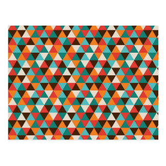 Colorful Abstract Geometric Triangles Postcard