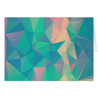 Colorful Abstract Geometric Triangles Shapes Forms Card