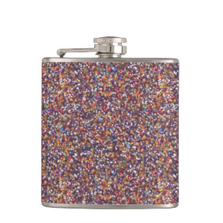 Colorful Abstract Glitter Texture Warm Tones Flasks