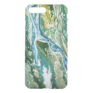 Colorful abstract green blue turquoise waterfall iPhone 8 plus/7 plus case