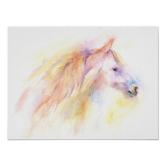 Colorful abstract horse poster