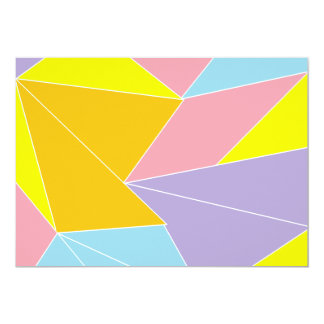 Colorful Abstract 5x7 Paper Invitation Card