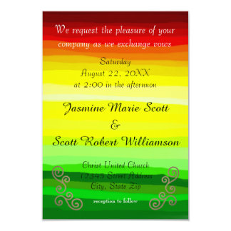 Colorful Abstract Lansdscape-3x5Wedding Invitation