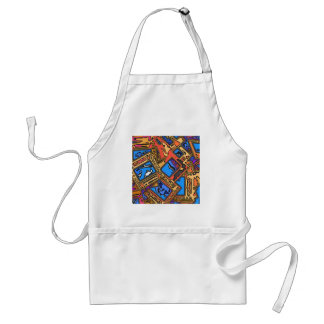 Colorful Abstract Layers Standard Apron