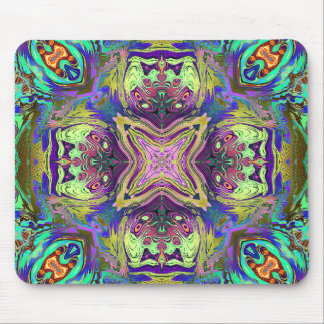 Colorful Abstract Mandala Mouse Pad