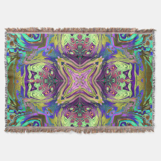 Colorful Abstract Mandala Throw Blanket