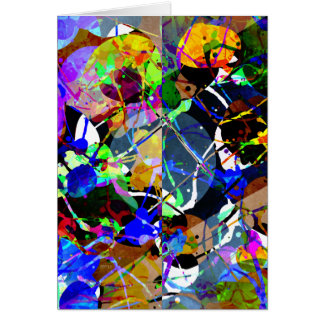 Colorful Abstract Mixed Media Greeting Card