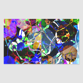 Colorful Abstract Mixed Media Sticker