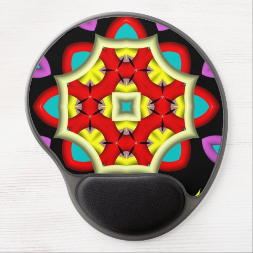 Colorful abstract modern pattern gel mouse pads