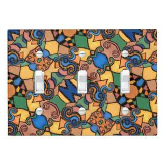 Colorful Abstract Modern Pattern Light Switch Cover