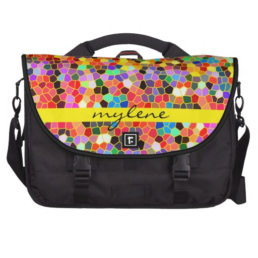 Colorful Abstract Mosaic Rainbow Stained Glass Commuter Bags