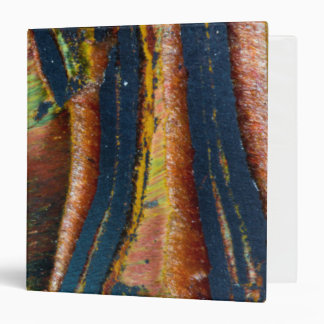 Colorful abstract of a Tiger eye 3 Ring Binder