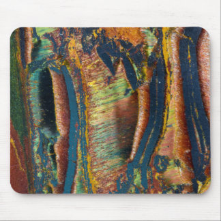 Colorful abstract of a Tiger eye Mouse Pad