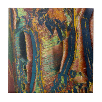 Colorful abstract of a Tiger eye Tiles