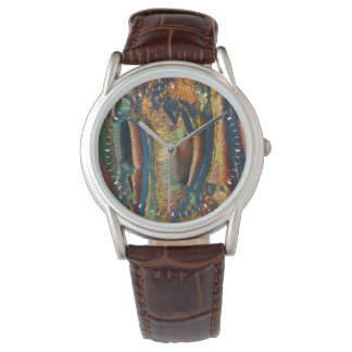Colorful abstract of a Tiger eye Wristwatch