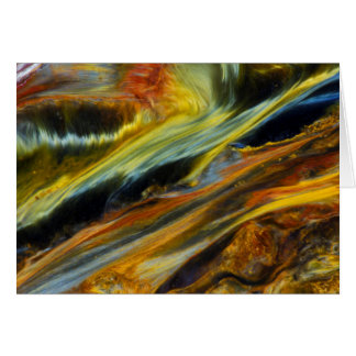 Colorful abstract of Pietersite Card