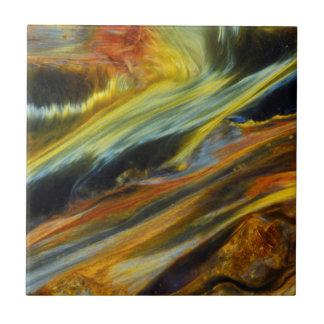 Colorful abstract of Pietersite Ceramic Tiles