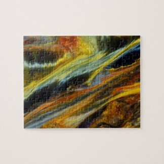 Colorful abstract of Pietersite Jigsaw Puzzle