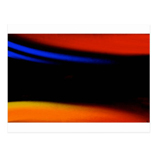 """Colorful Abstract Painting """"Embrace the Darkness"""" Postcard"""