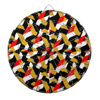 Colorful Abstract Pattern Dartboard