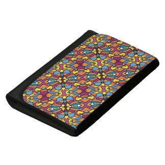 Colorful Abstract Pattern Leather Wallets