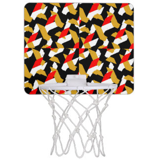 Colorful Abstract Pattern Mini Basketball Hoop