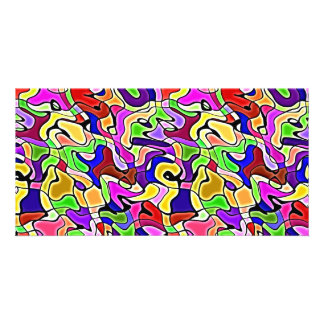colorful abstract pattern Photo Card