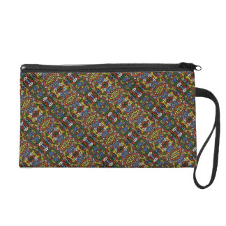 Colorful Abstract Pattern Wristlet