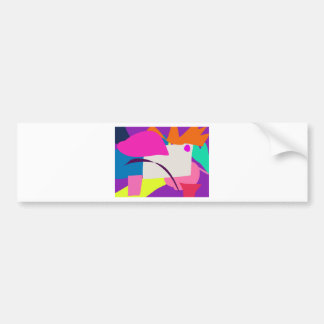 Colorful Abstract Picture Bumper Sticker