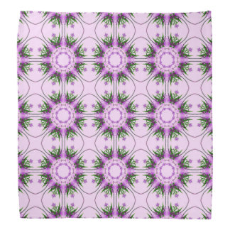 Colorful abstract pink purple green floral pattern bandanna