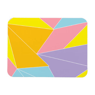 Colorful Abstract Rectangular Photo Magnet