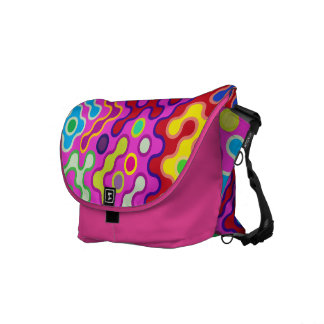 Colorful Abstract Psychedelic Pop Art Pattern Courier Bag