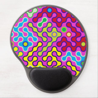 Colorful Abstract Psychedelic Pop Art Pattern Gel Mouse Pad