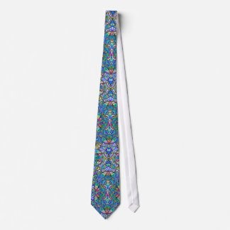 Colorful Abstract Psychedelic Symmetrical Swirls Tie