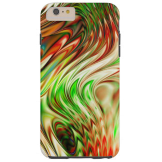 Colorful Abstract Rainbow Wave Tough iPhone 6 Plus Case
