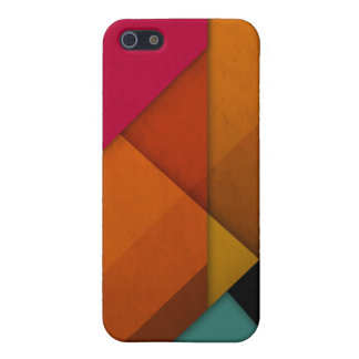 colorful abstract retro art linear geometric cover for iPhone 5/5S