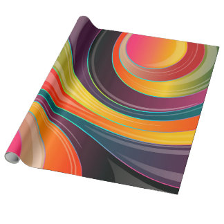 Colorful Abstract Retro Pattern Wrapping Paper