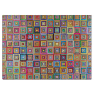 Colorful Abstract Retro Squares Boards