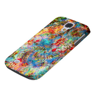 Colorful Abstract Rustic Floral Design