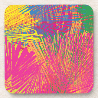 Colorful Abstract Scribble Drink Coasters
