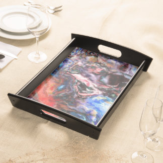 Colorful Abstract Serving Tray