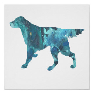 Colorful abstract Setter silhouette Perfect Poster