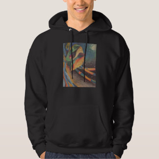 Colorful abstract shapes in space hoodie