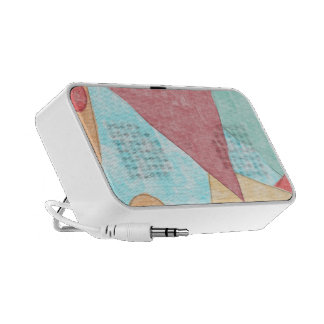 Colorful abstract shapes notebook speakers